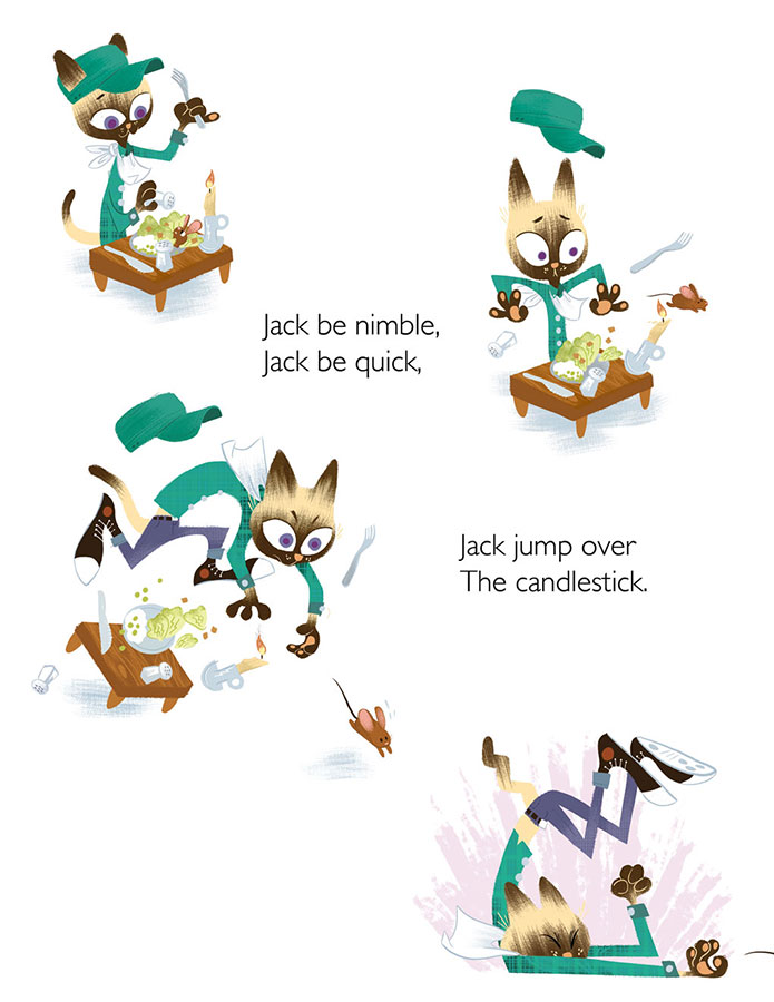 Final illustrations for Jack be Nimble.